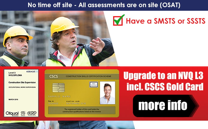 Do you NVQ Level 3 With Knight Learning & Receive your CSCS Gold Card