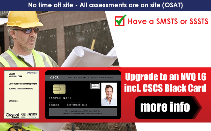 KNIGHT LEARNING NVQ LEVEL 6 & 7 WITH CSCS BLACK CARD